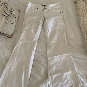 Hudson white flare jeans size 28